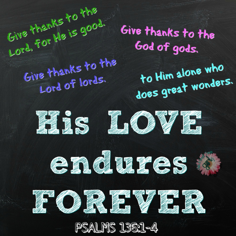 PSALMS 136 1 4